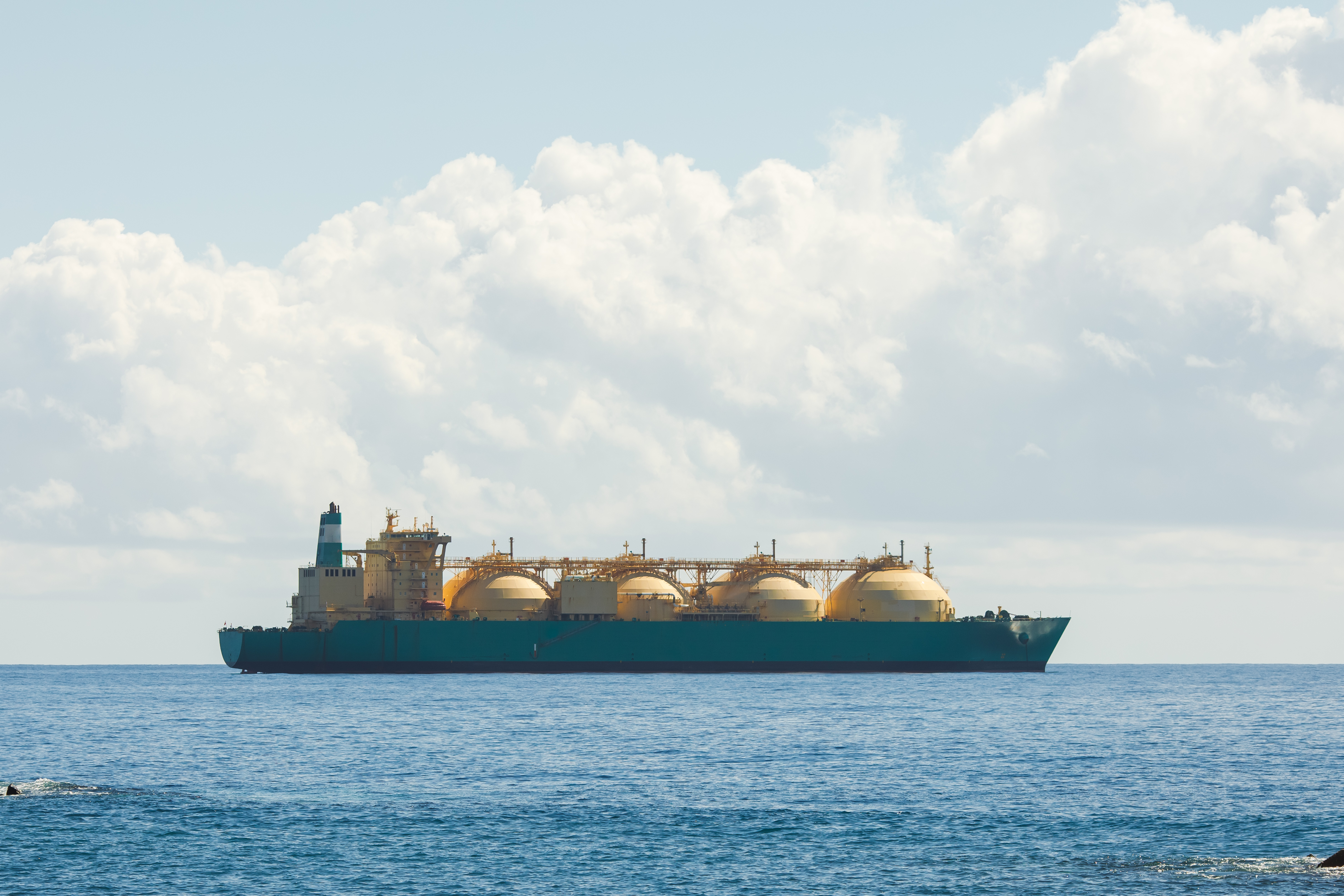 LNG carrier at sea