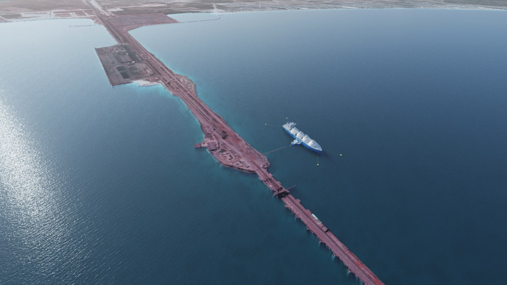 Floating transfer system for LNG in Saldanha Bay