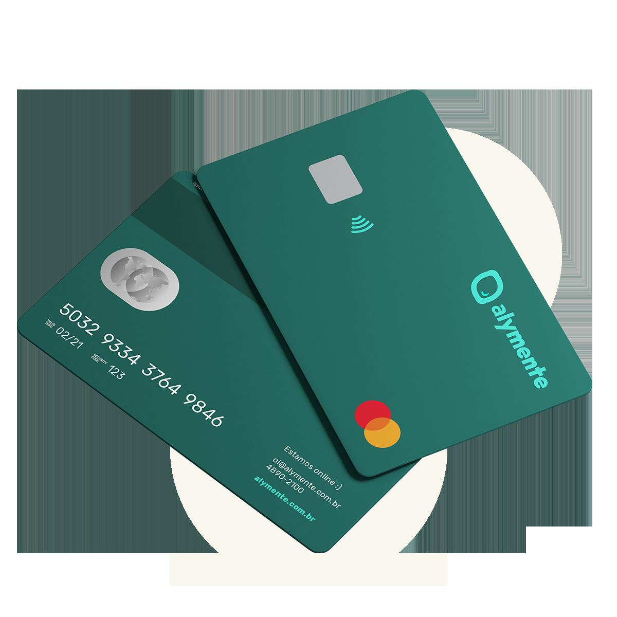 A green Alymente credit card
