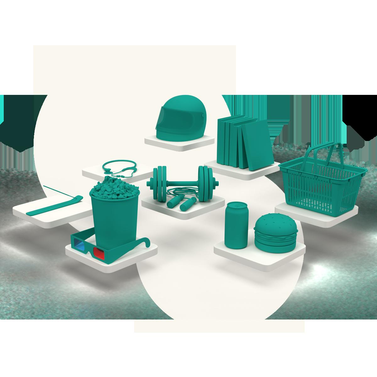 3D render of Alymente's benefits offer.