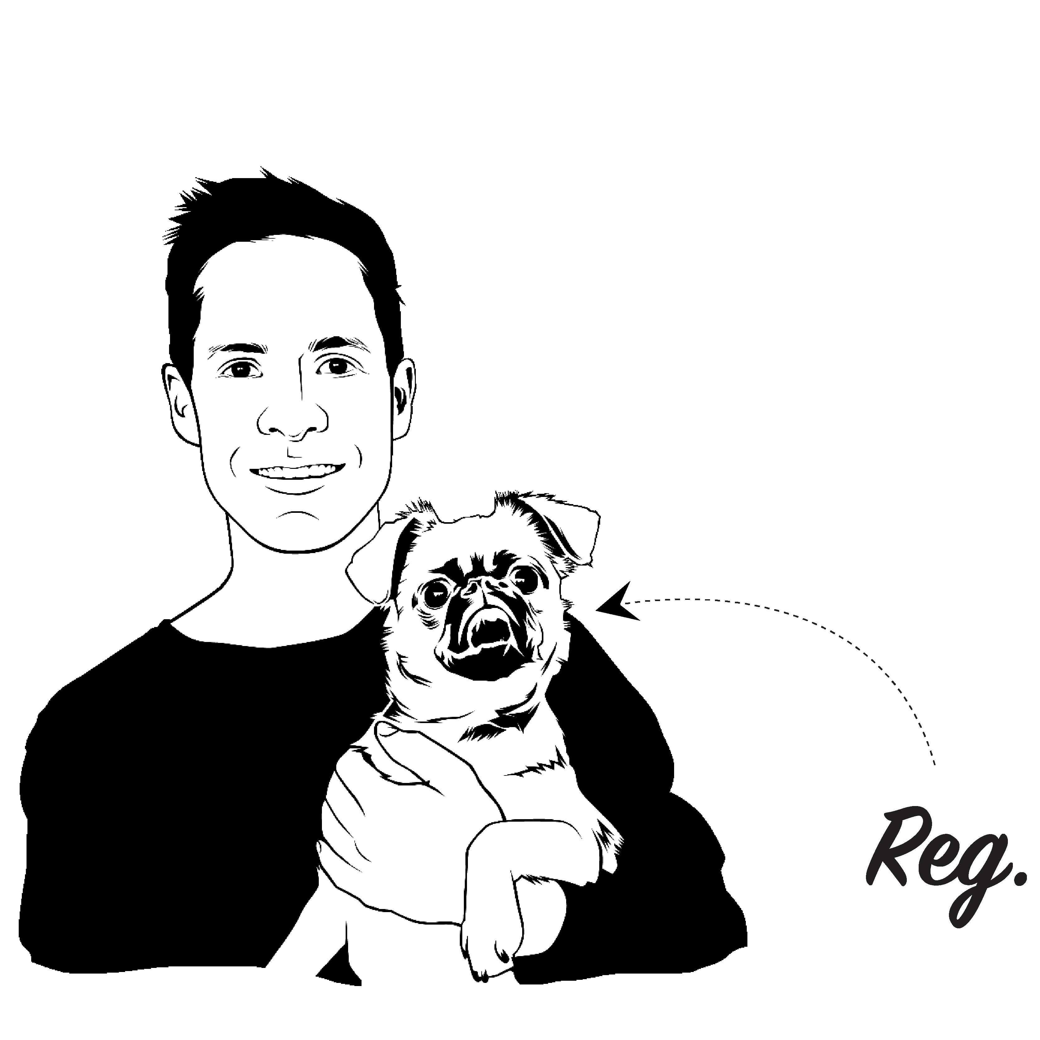 Jamie Simpson and Reg Drawing