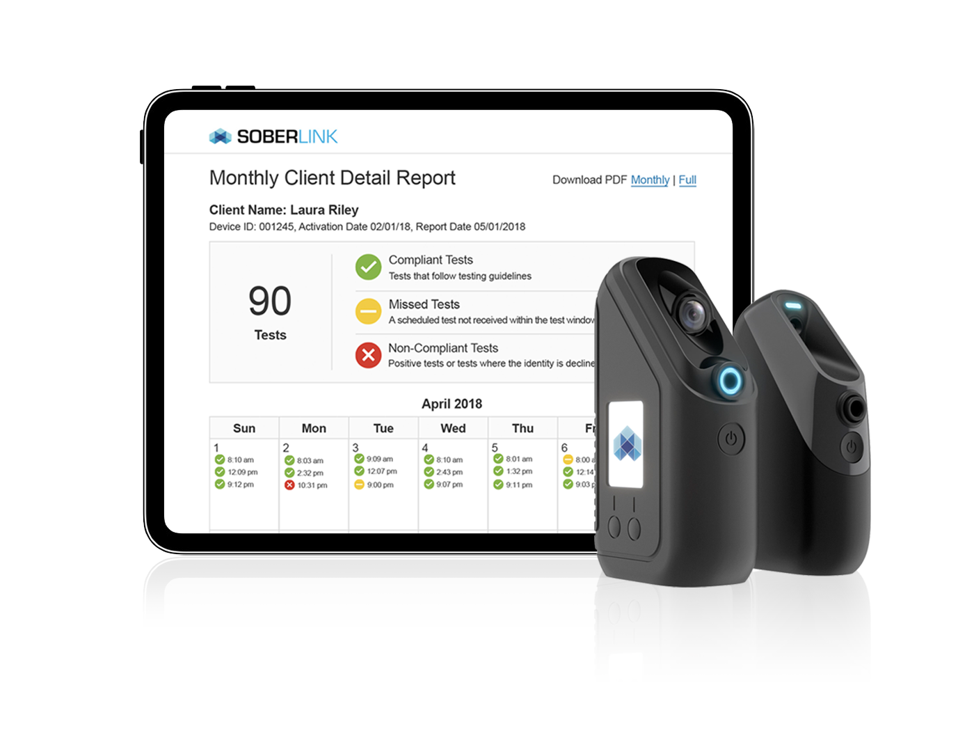 Monthly Client Report of the Connect Device