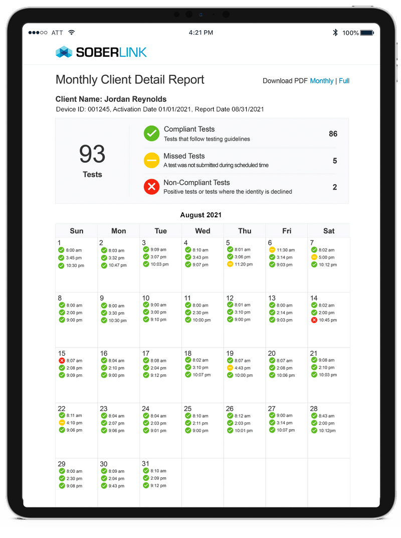Montly Client Detail Report