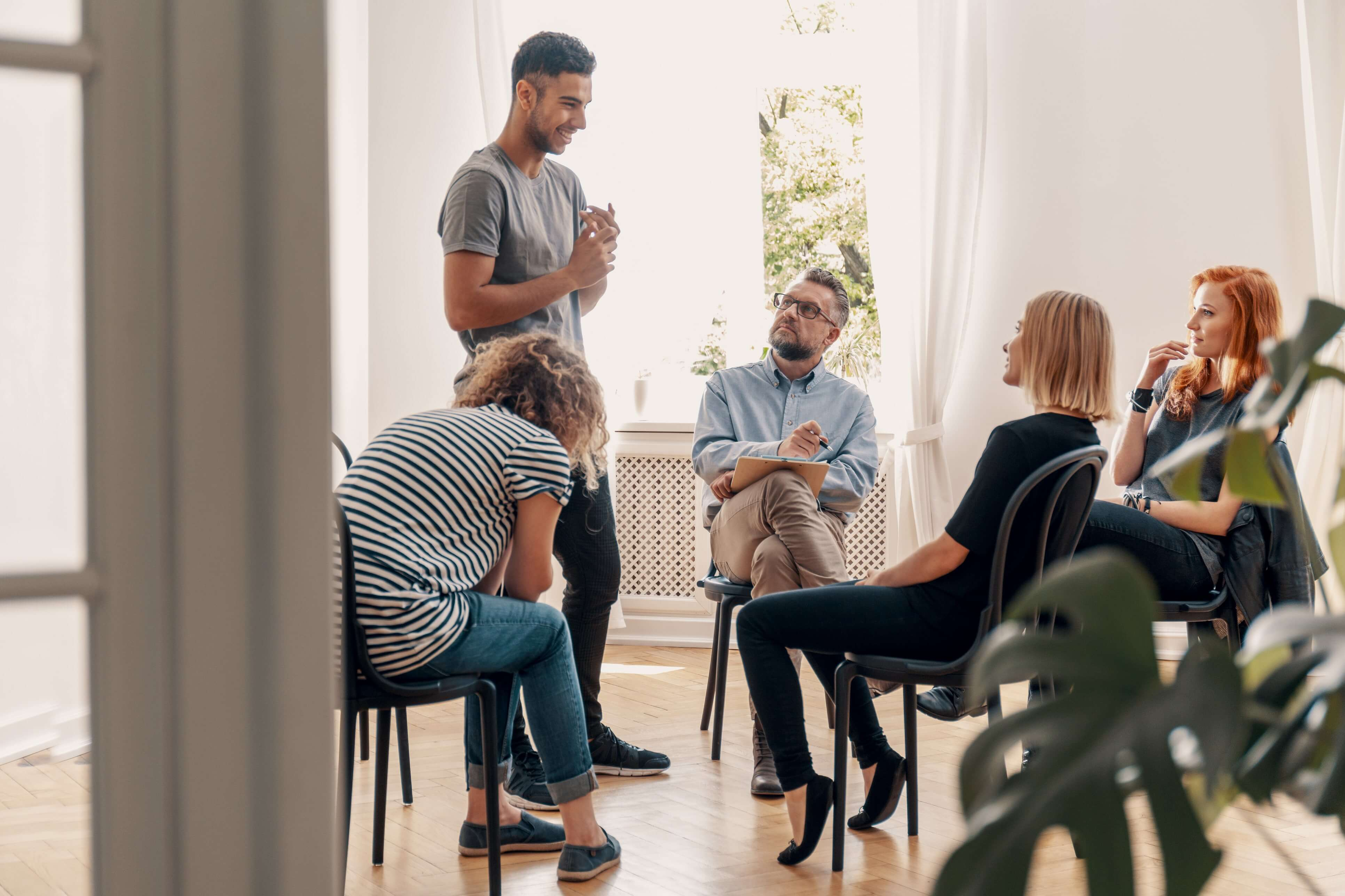 An Alcohol Therapy Group Session