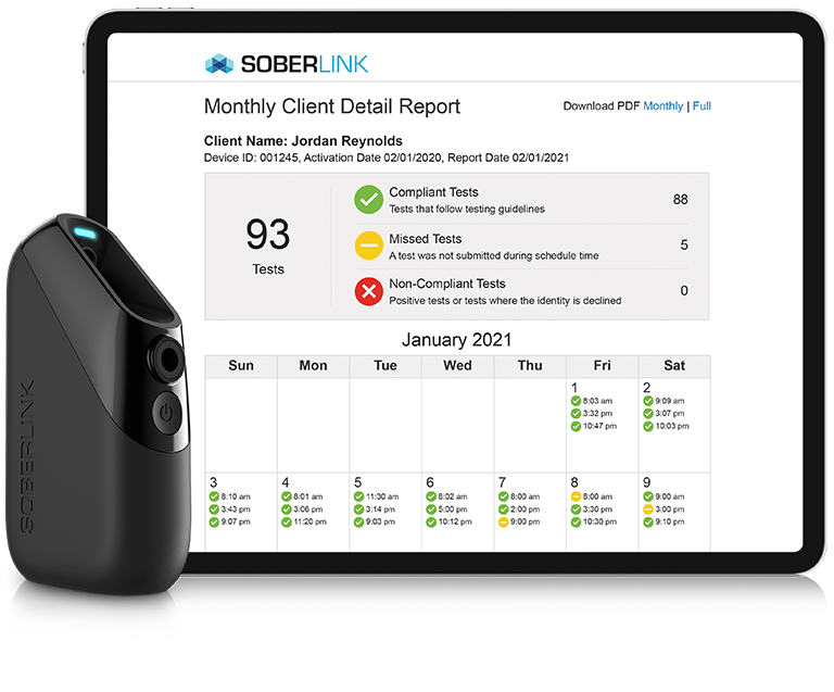 Soberlink Connect Device - Advanced Reporting