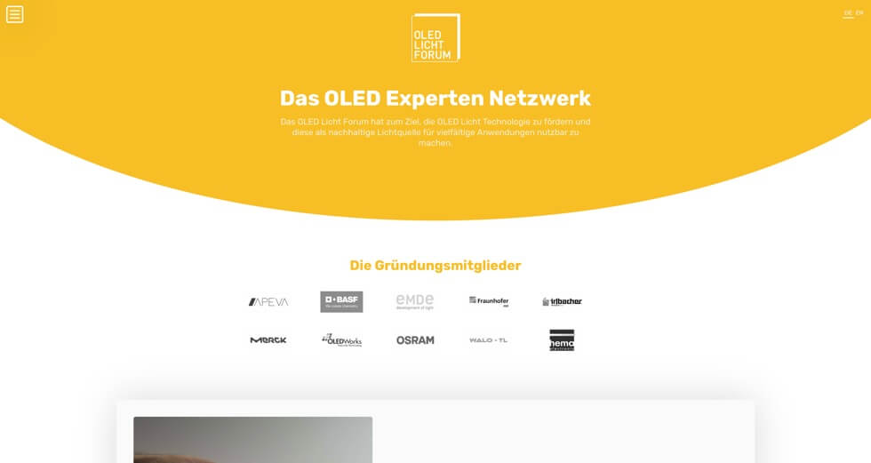 Screenshot OLED Licht Forum | Moritz Petersen Webflow Web Designer