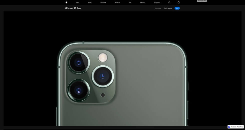 Screenshot iPhone 11 Pro Clone | Moritz Petersen Webflow Web Designer