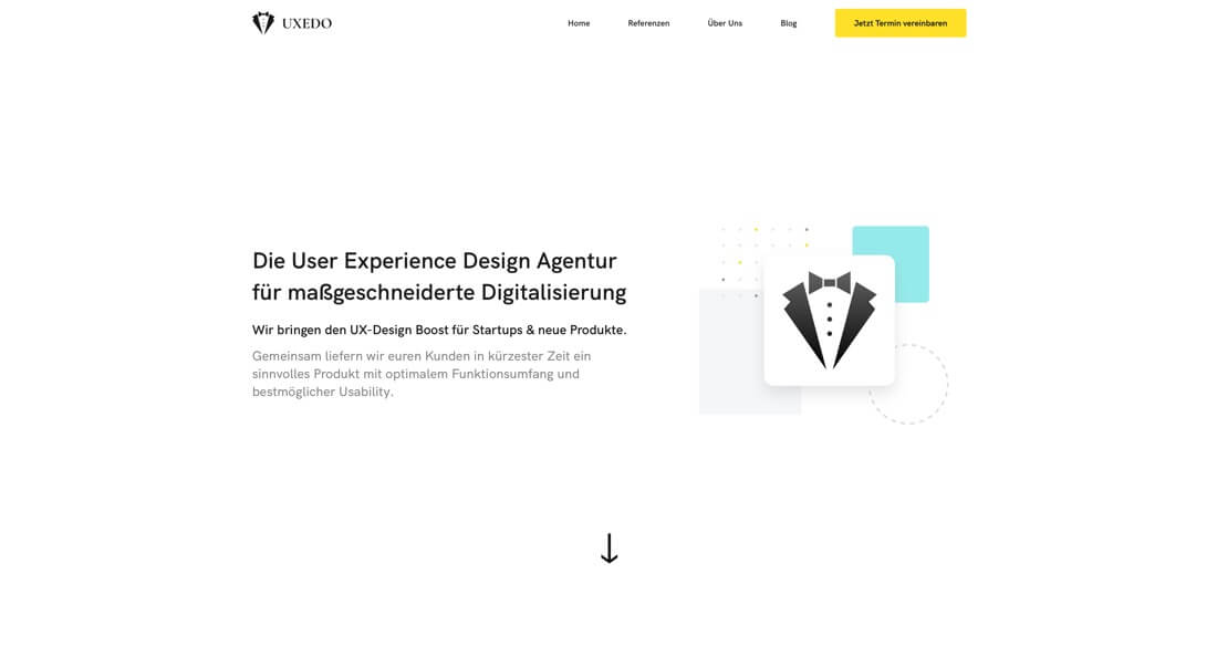 Screenshot UXEDO | Moritz Petersen Webflow Web Designer