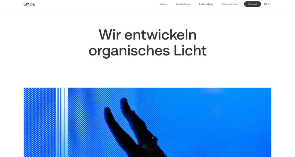Screenshot Emde GmbH | Moritz Petersen Webflow Web Designer