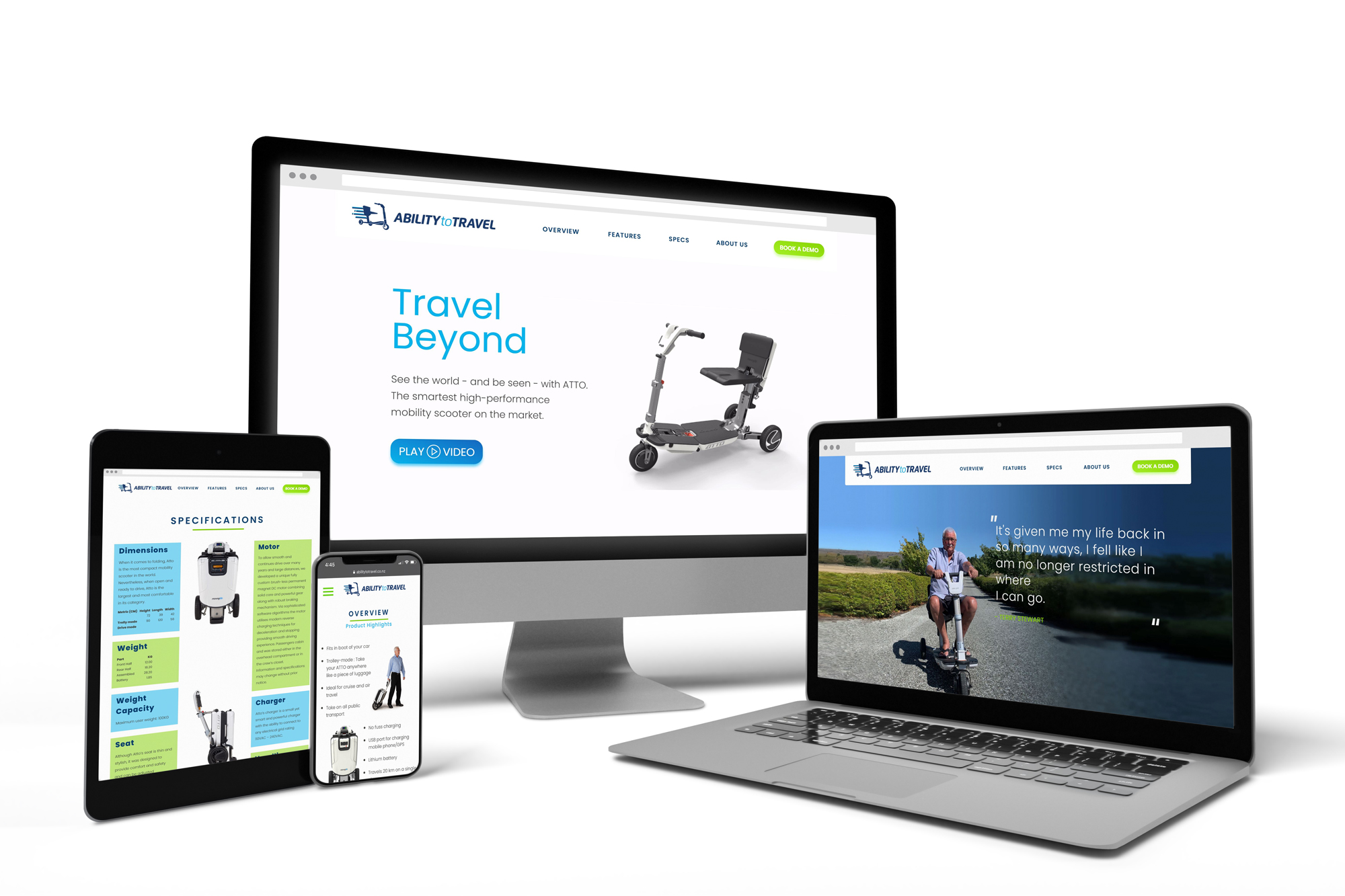 Ability to Travel - Website on all devices