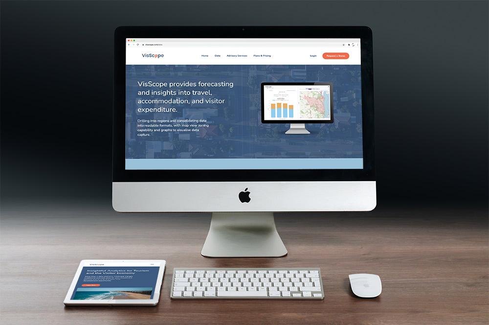 VisScope website inside Mac and iPad.