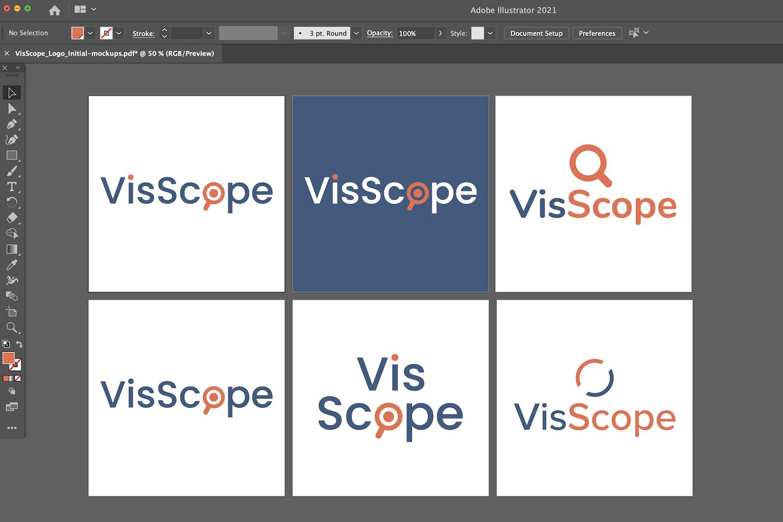 VisScope Logo concepts.
