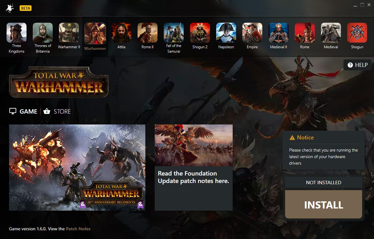 Warhammer Launcher screenshot