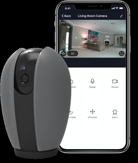 Indoor Smart WiFi cmaera, Pan and tilt
