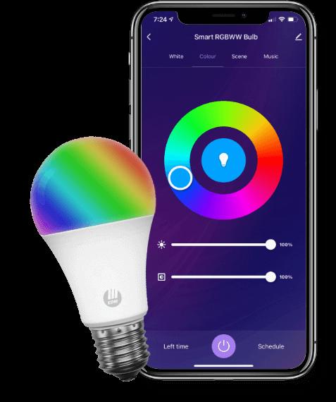 Smart Bulb With Interactive Home App, RGB, RGBWW