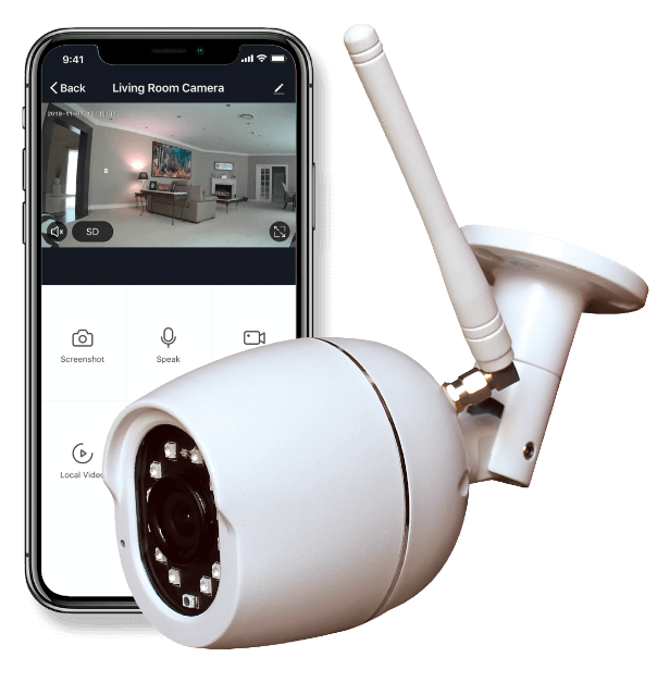 Smart Bullet Camera With Phone UI