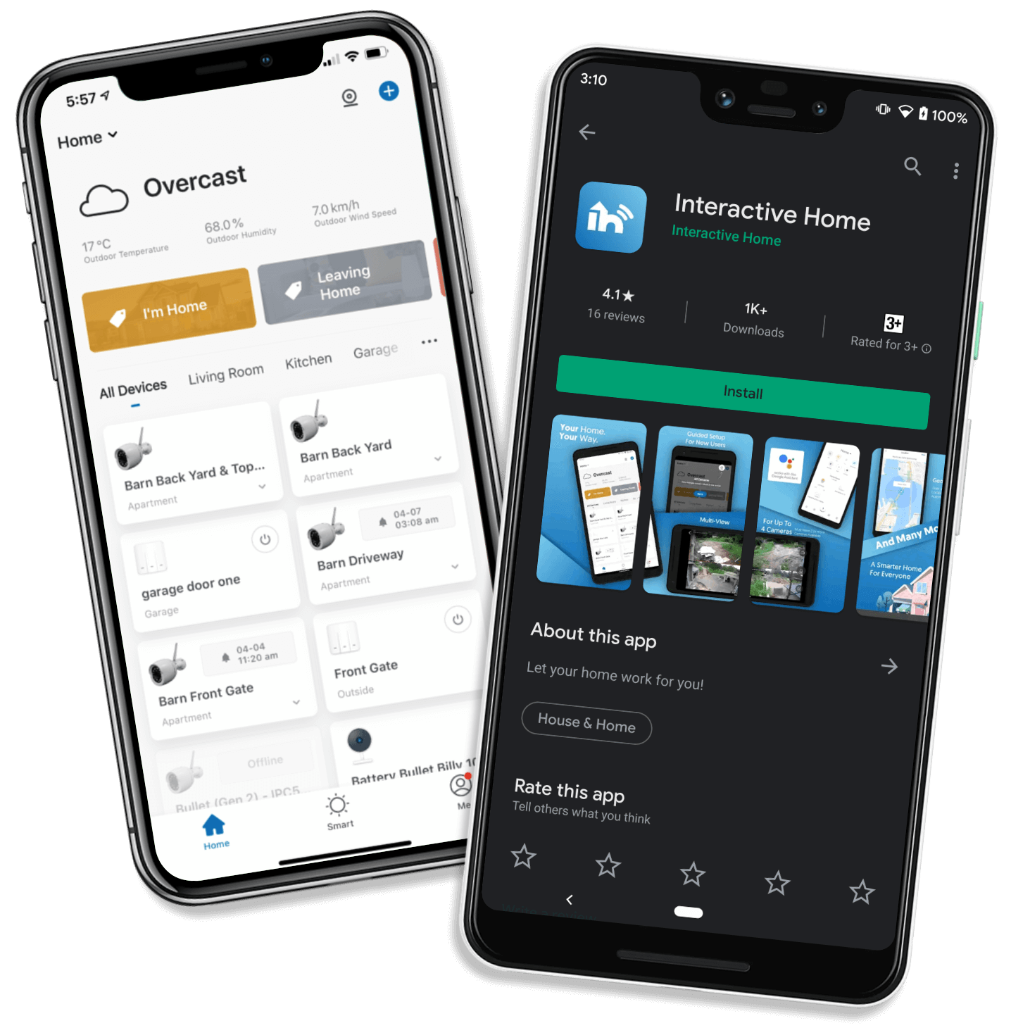 Interactive Home App, Android, IOS