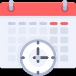 Bilde av klokke og kalender