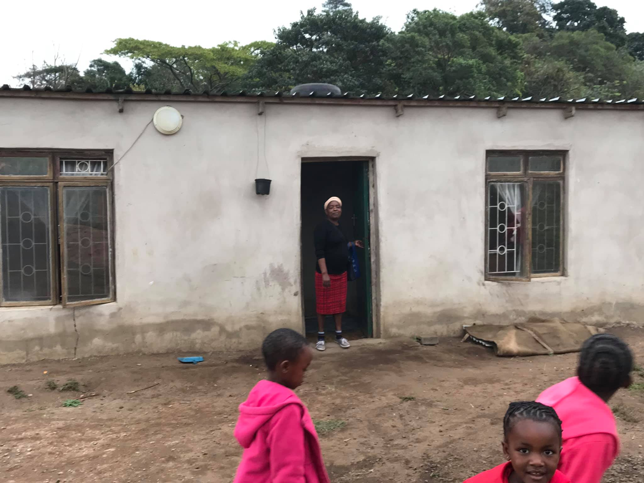 Bongi built her own house from scratch, mainly built on second hand items and with some help from Children of Zululand