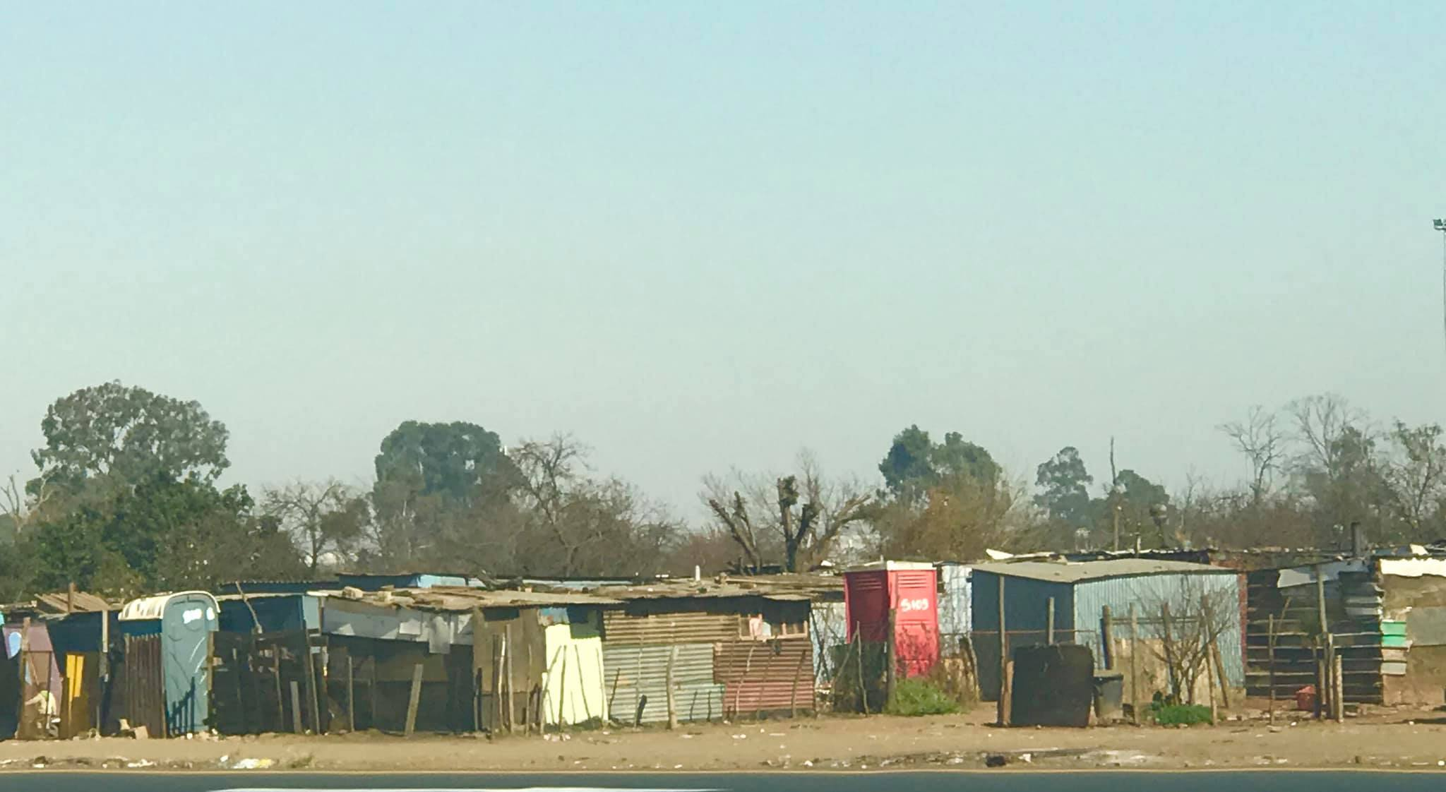 One of many ghettos with sheds and shacks