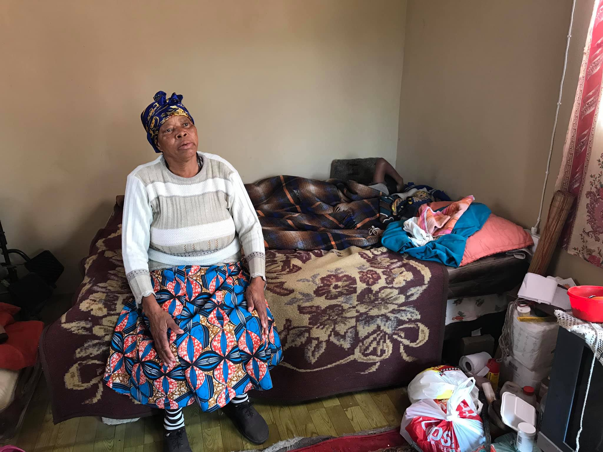 Agnes and Cebolenkosi in the old 1-room house