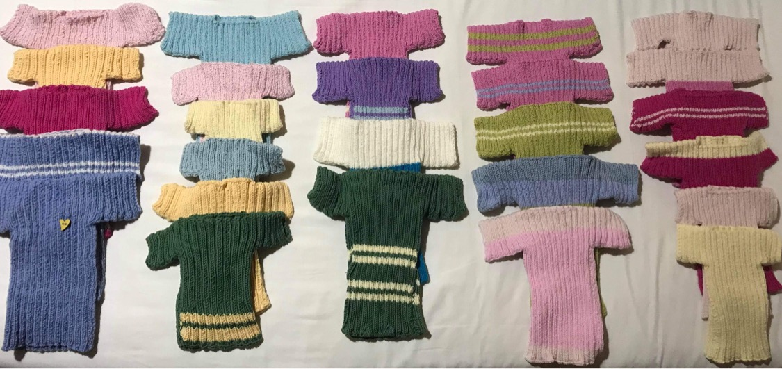 A big selection on knitted items