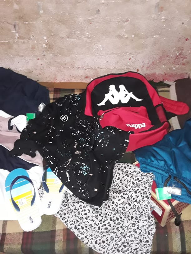 New clothes bought for a sponsored child by donation from sponsor