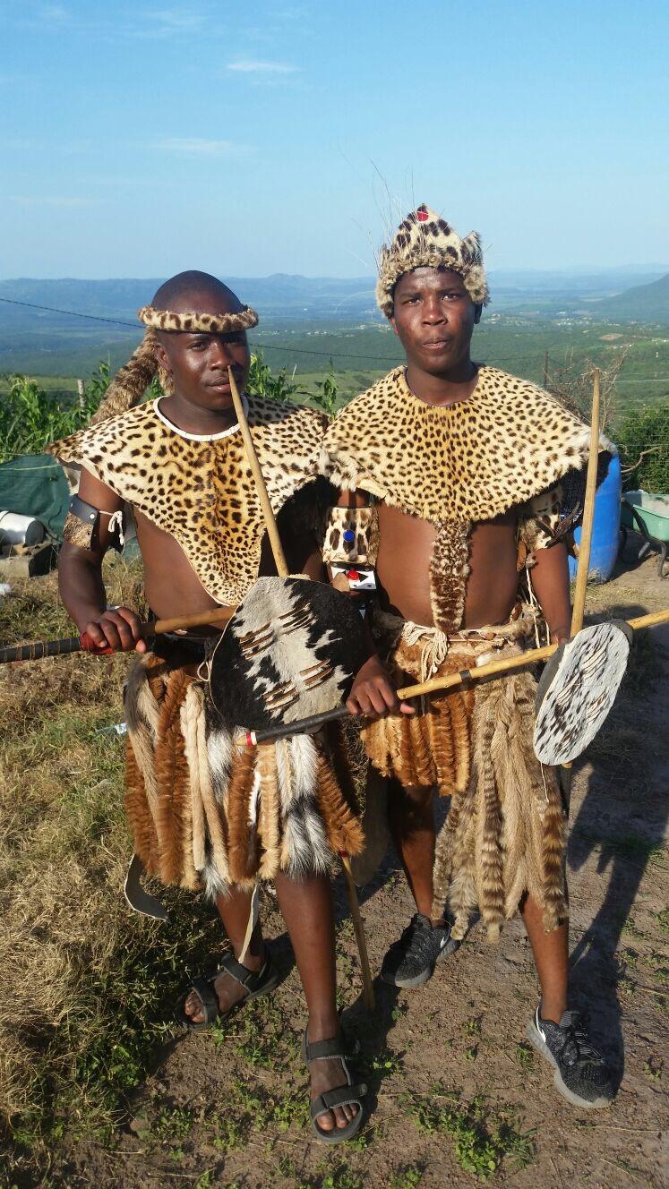 Tradtional zulu warrior outfit