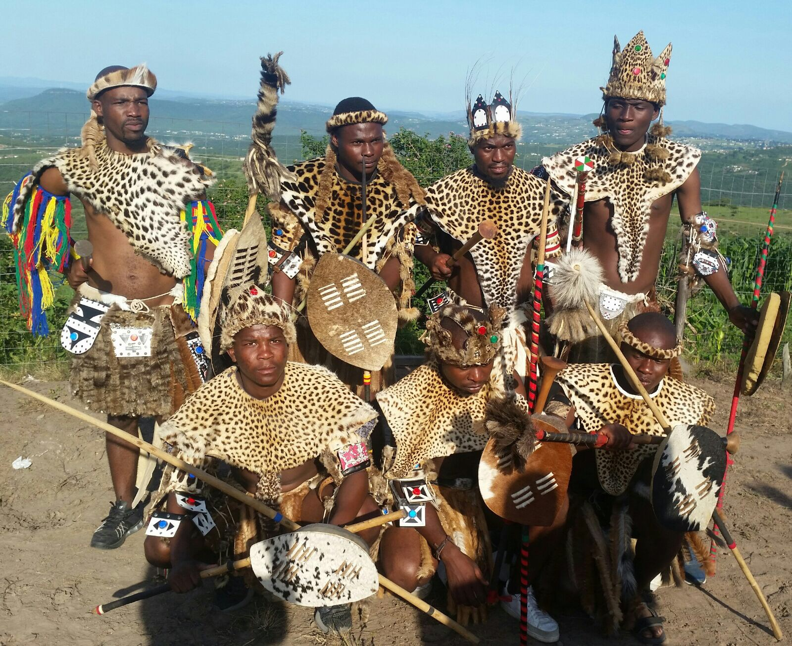 Traditional zulu warrior outfit