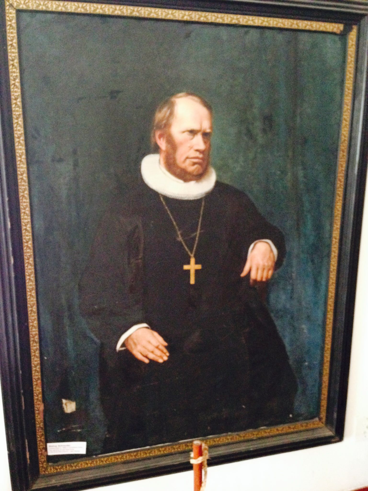 Painting of Reverend Schroeder from Sogndal