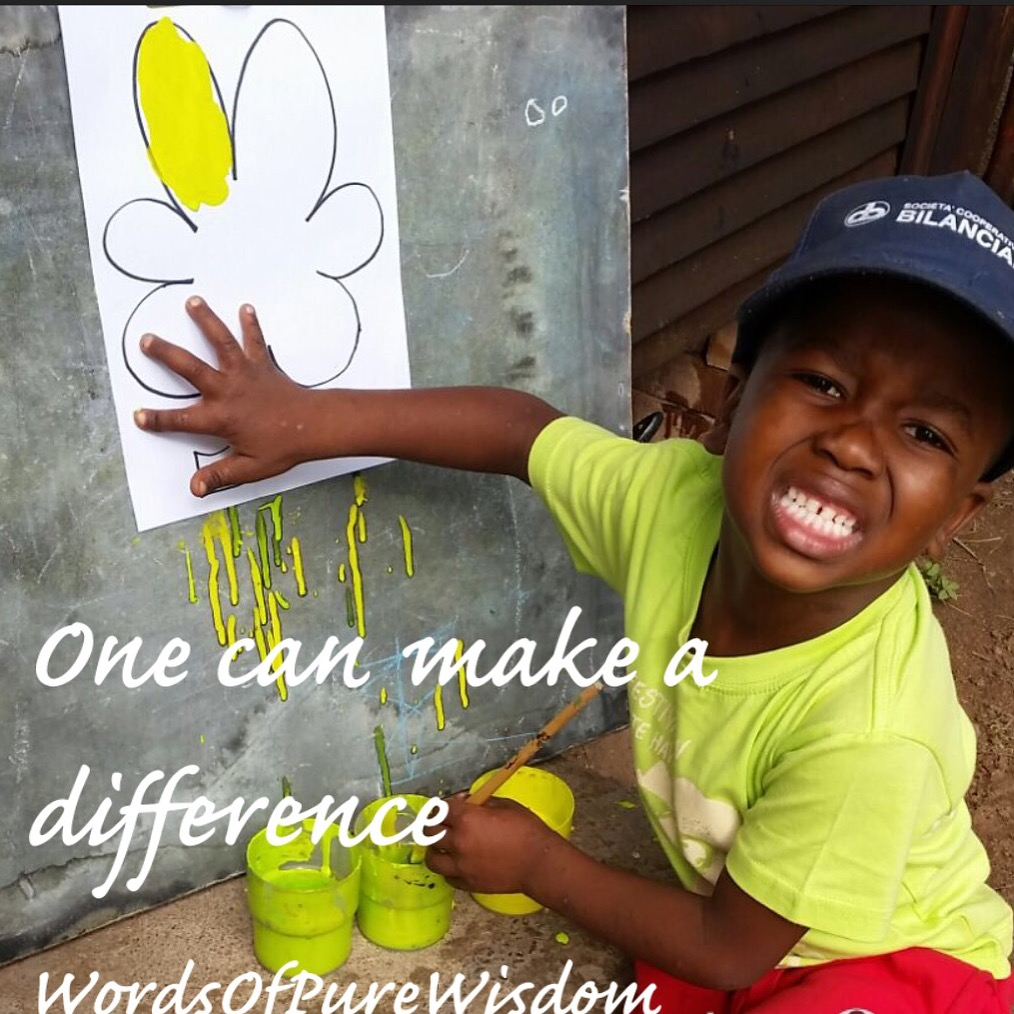 ONE can make a difference.