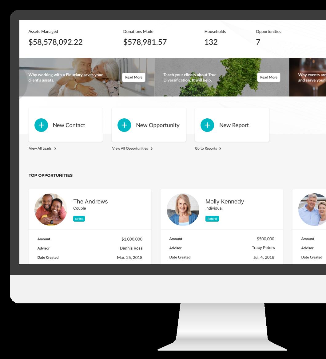 Vimvest for Advisors CRM