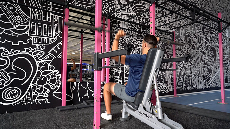 Seated Barbell Press