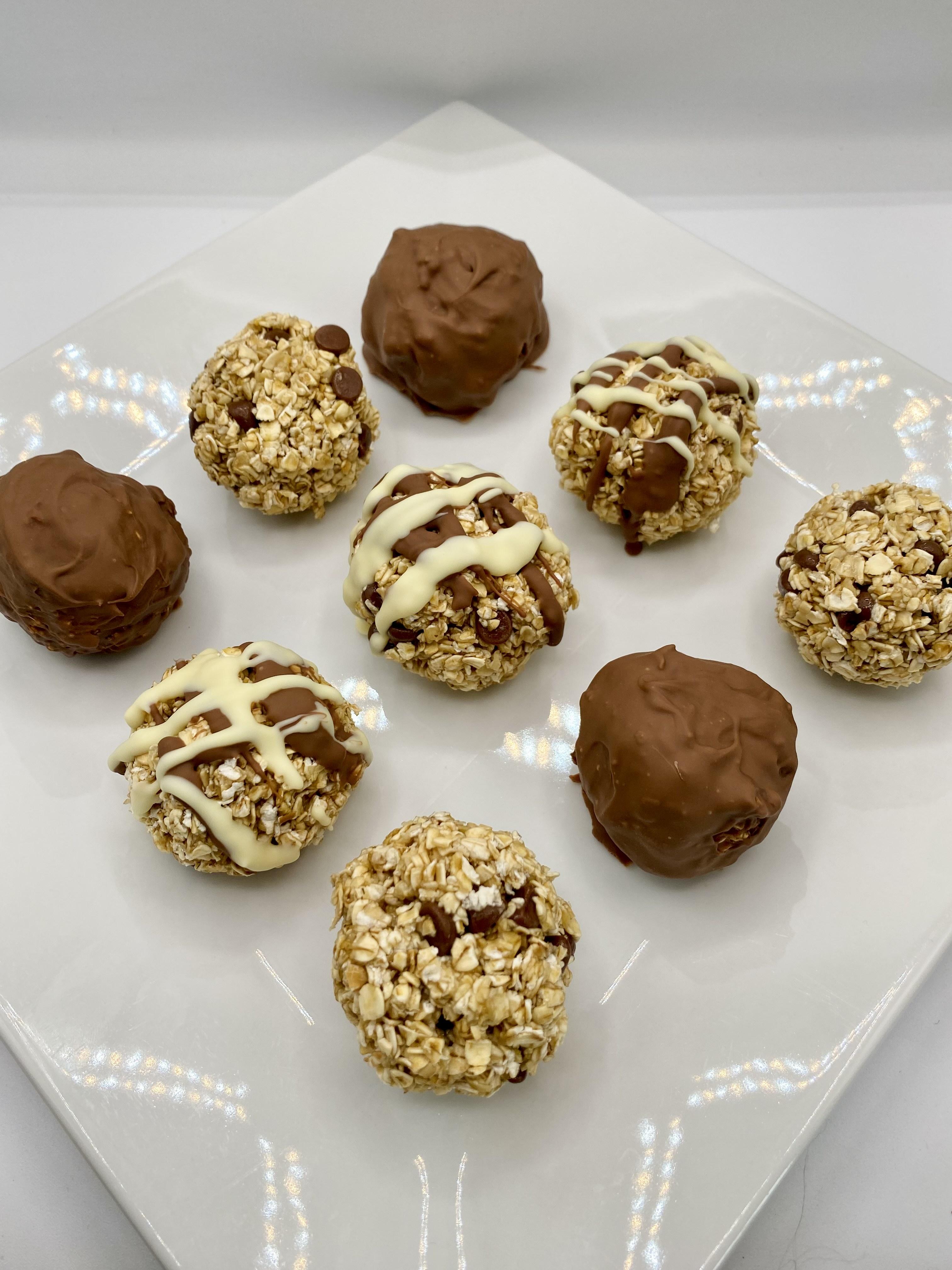 Triple chocolate protein balls