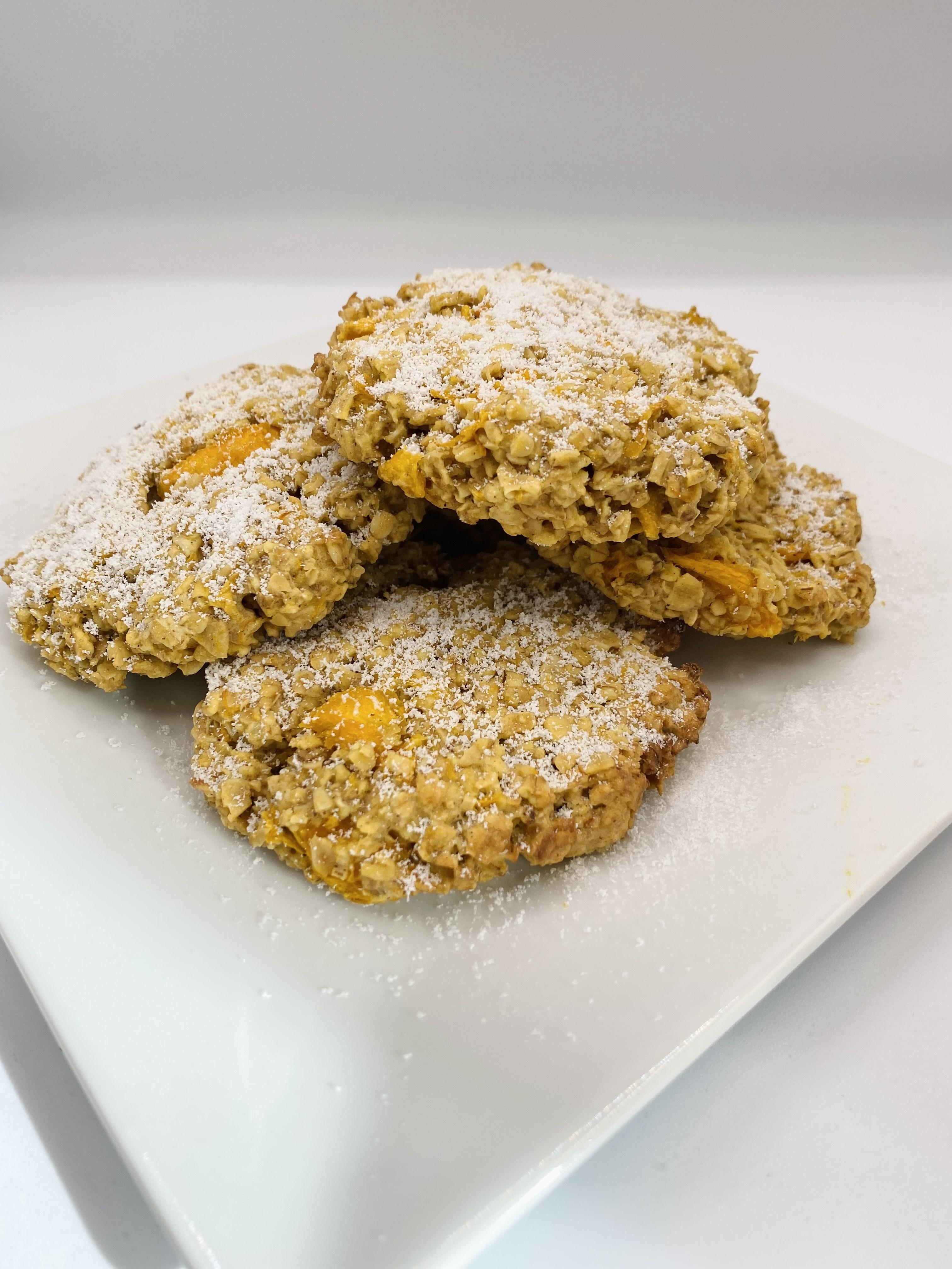Pumpkin and oat cookies