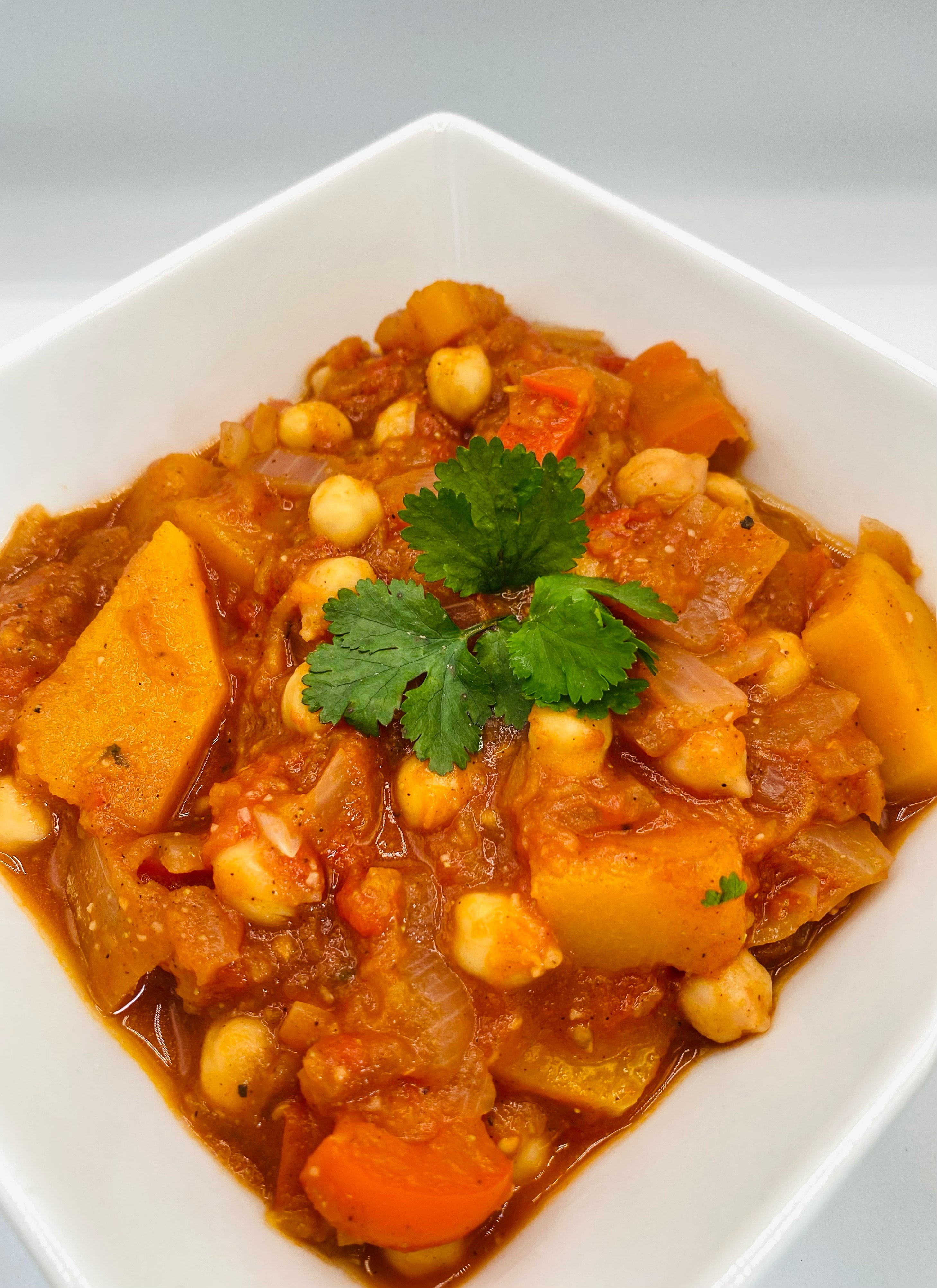 Moroccan vegetable and chickpea stew