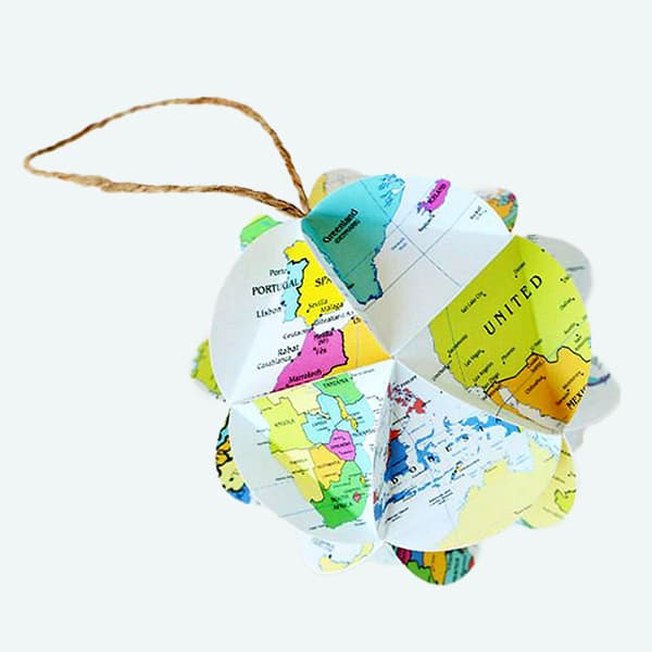 World Map DIY Ornament Kit