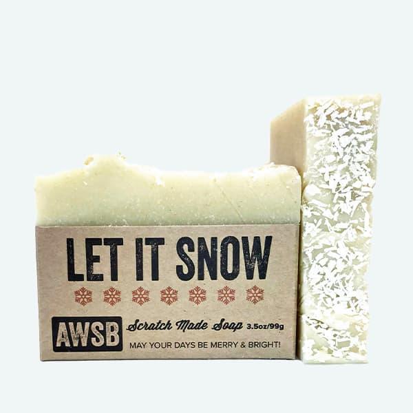 Let It Snow Soap Bar