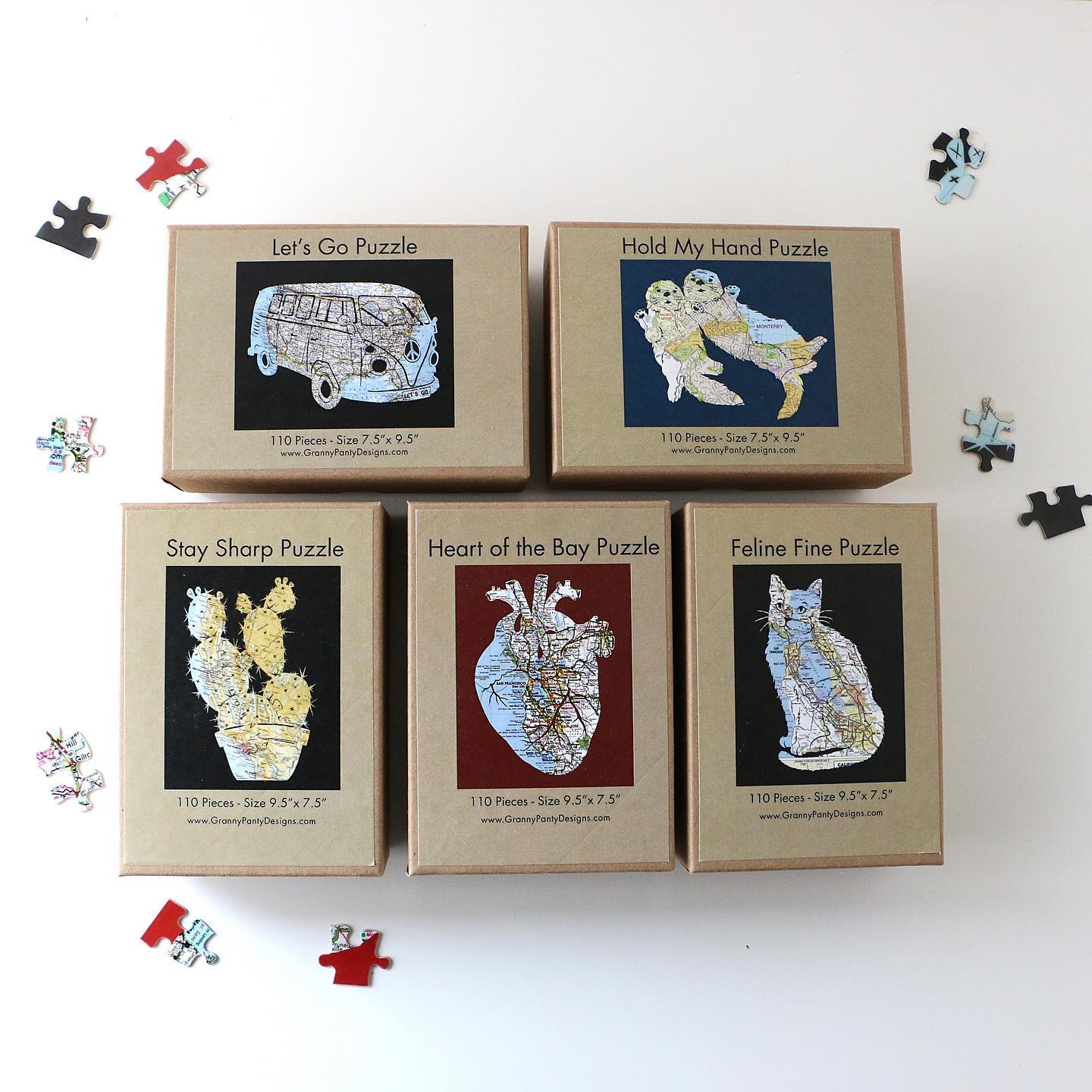 Bringing unique map and travel themed goods into your home and onto your walls. At Granny Panty Designs you can find map inspired greeting cards, wall art, DIY kits and more.