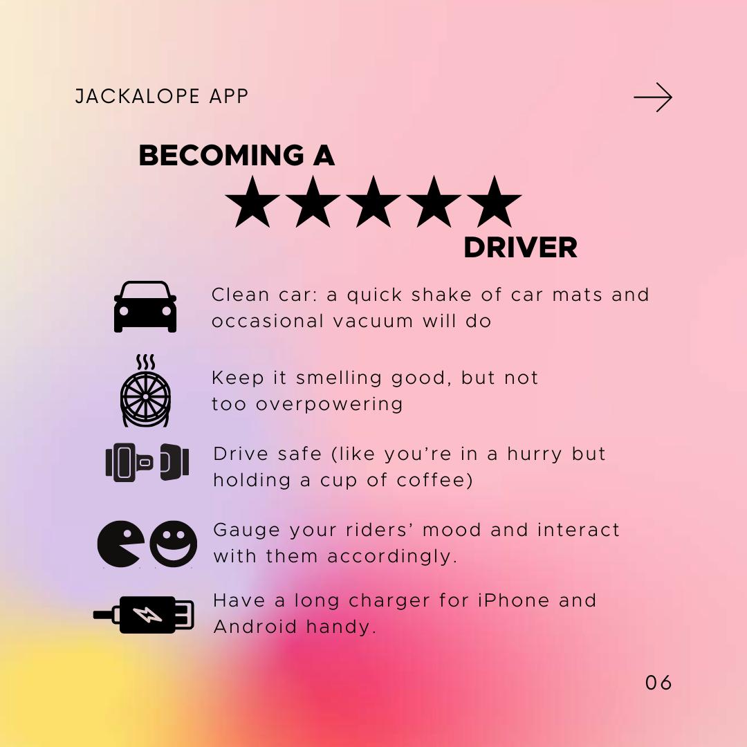 uber driver lyft driver five star customer rating