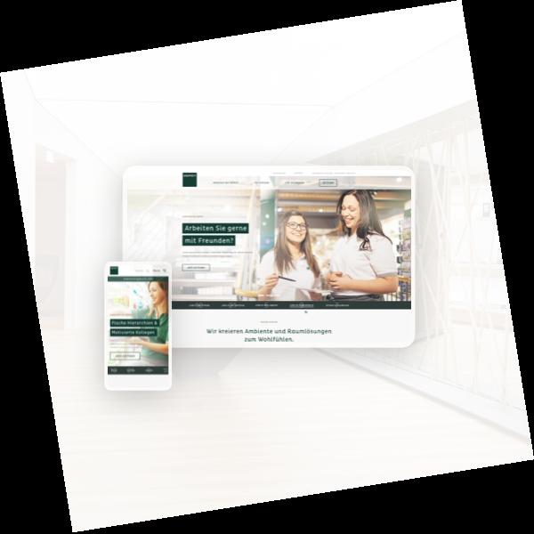 hover-image for the client depot highlighting a website mockup of the platform