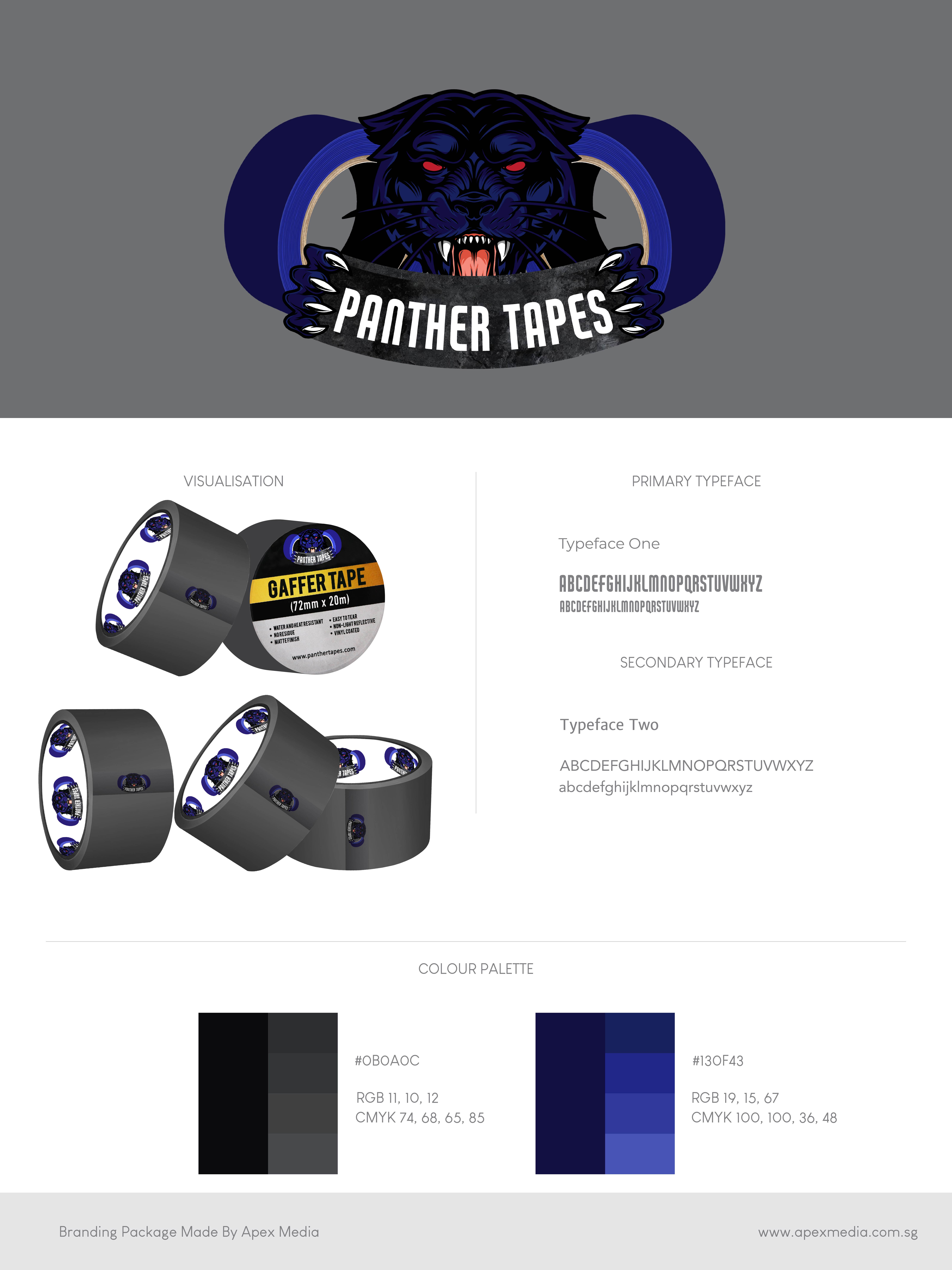 Panther Tapes Branding Identity