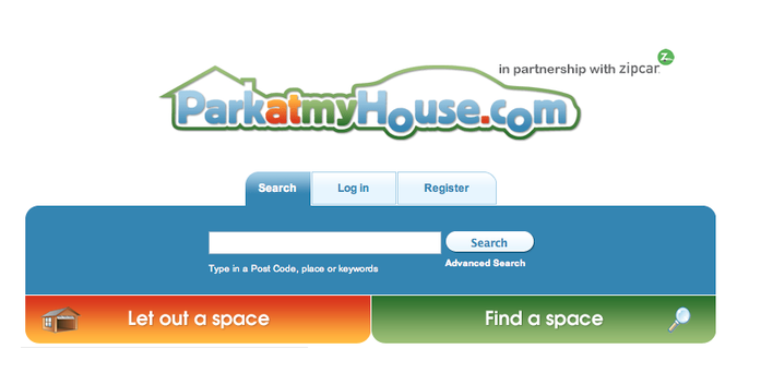 ParkatmyHouse homepage