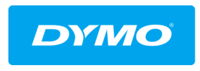 Blue and white DYMO logo