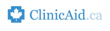 blue ClinicAid.ca Logo