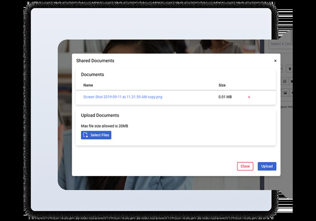 Shared document dashboard