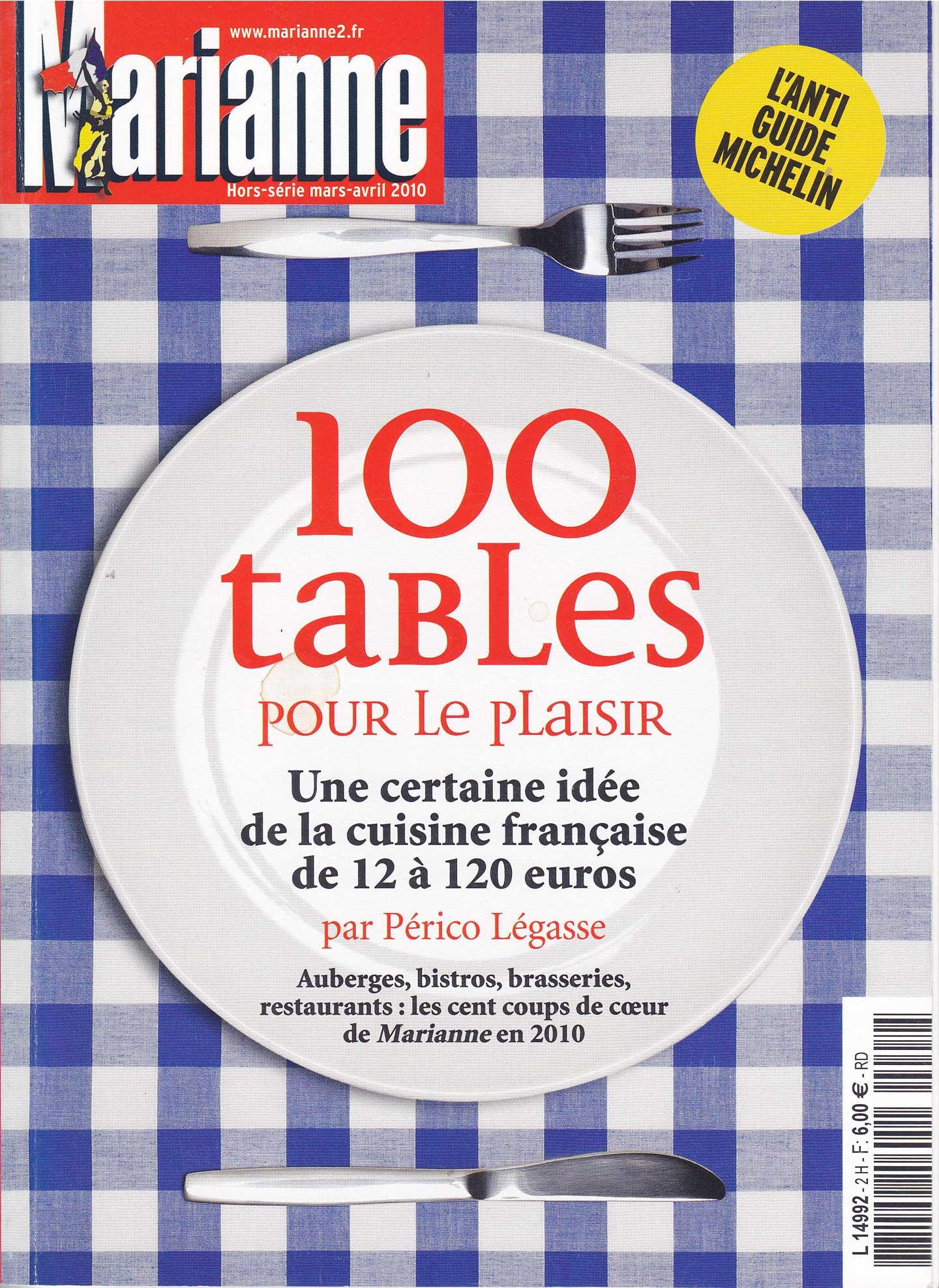 100 tables pour le plaisir de Marianne