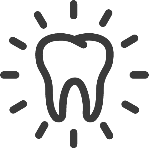 magnifying tooth icon