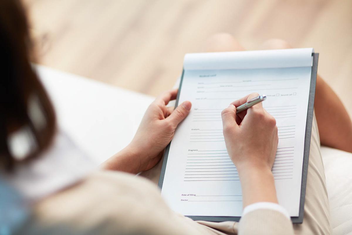 person signing documenrt
