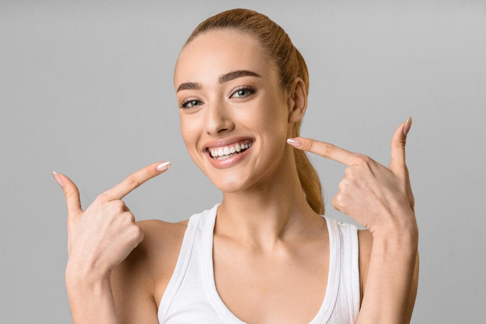 woman smiling - beautiful teeth